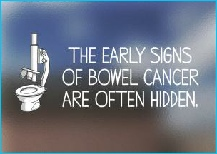 Early signs of bowel cancer are often hidden